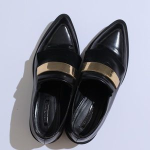 Zara Pointy chunky platform loafers